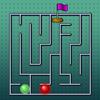 Ein Labyrinth-Rennen Spiel