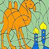 Allein Kamel in der Wüste Färbung Spiel