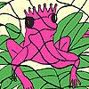 Allein rosa Frosch Färbung Spiel