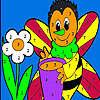 Allein Honigbiene Färbung Spiel