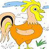 Allein gelben Schwanz Färbung Spiel