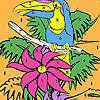 Allein Papagei auf Baum-Färbung Spiel