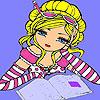 Ann in der Bibliothek-Färbung Spiel