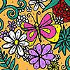 Verschiedene Blumen Garten Färbung Spiel
