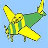 Grundlegende Flugzeug-Färbung Spiel