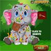 Baby-Elefant-Unfall-Pflege Spiel