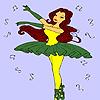 Besten Ballerina Färbung Spiel