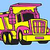 Großen Müllwagen Färbung Spiel