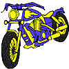Große blaue Motorrad Färbung Spiel