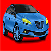 Big blue Konzept Auto Färbung Spiel