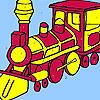 Big army train coloring Spiel
