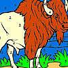 Großen Bison auf dem Bauernhof-Färbung Spiel