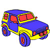 Großen Dschungel Jeep Färbung Spiel