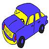 Blaues schnelles Auto Färbung Spiel