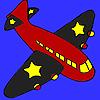 Schwarze Flügel Flugzeug Färbung Spiel