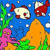Blaues Meer Fische Färbung Spiel
