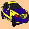 Blaue schnelles Auto Färbung Spiel