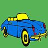 Erstklassige blaues Auto Färbung Spiel