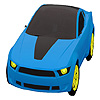 Blaue Stadt Auto Färbung Spiel