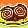 Brownie Erdnuss Eis Roll Spiel