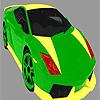 Leuchtend bunte Auto Färbung Spiel