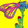 Schmetterling auf den Zehen Färbung Spiel