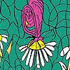Schmetterling und Gänseblümchen Färbung Spiel
