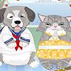 Katze Hund verkleiden Spiel