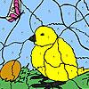 Küken und Ei färben Spiel