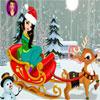 Weihnachtsmädchen mit Rentier Dress Up Spiel