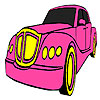 Klassische rosa Auto Färbung Spiel