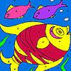 Bunte Fische Färbung Spiel