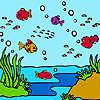 Bunte Meer Fische Färbung Spiel