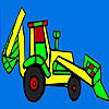 Buntes Dorf Traktor Färbung Spiel