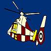 Bunte fliegende Hubschrauber-Färbung Spiel