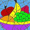 Bunte Früchte färben Spiel