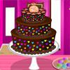 Farbige Schokoladenkuchen Spiel