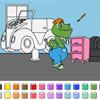 Color Spiele - Auto Garage Dinosaurier