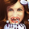 Niedliche Mädchen Zahnprobleme Spiel