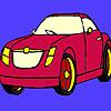 Dunkle rote Auto Färbung Spiel