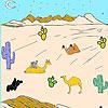 Wüste und Kamelen Färbung Spiel