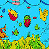 Tiefsee-Fischen und Algen färben Spiel