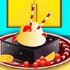 Köstliche Eiscreme mit Brownies Spiel