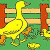 Duckie im Bauernhof Färbung Spiel