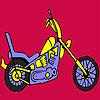 Schnell härter Motorrad Färbung Spiel