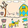 Landwirt im Garten Färbung Spiel