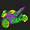 Faszinierend und schnelles Motorrad Färbung Spiel