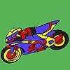 Faszinierende Motorrad Färbung Spiel