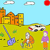Farmer and child coloring Spiel