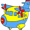 Fast cute airplane coloring Spiel